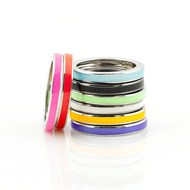 ENAMEL & SILVER CANDY RINGS