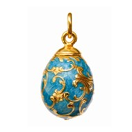 BAROQUE DESIGN ENAMEL EGG PENDANT
