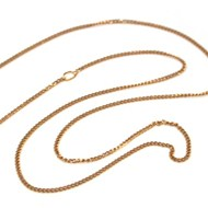 "9CT YELLOW GOLD 18""-20"" ADJUSTABLE CURB CHAIN"