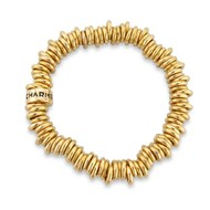 18CT GOLD PLATED STRETCH RING CHARM BRACELET