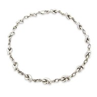 CLASSIC STERLING SILVER KNOT NECKLACE