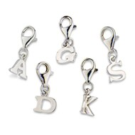 SMALL SILVER INITIAL CHARMS