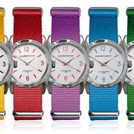 UNISEX CANDY COLOURED CANVAS STRAP WATCH