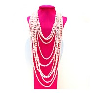 'THE GATSBY' LAYERED PEARL NECKLACE