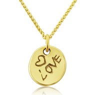 "GOLD ""LOVE"" PENDANT"