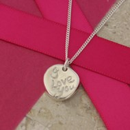 SILVER 'I LOVE YOU' PENDANT