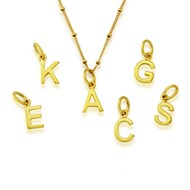 SMALL GOLD VERMEIL INITIALS
