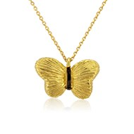 14ct GOLD BUTTERFLY PENDANT NECKLACE