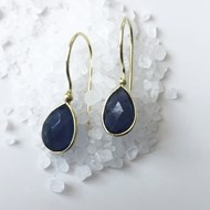 IOLITE EARRINGS ON GOLD VERMEIL HOOKS