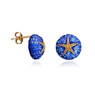 ENAMEL STARFISH AND SEA URCHIN EARRINGS