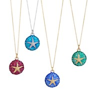 ENAMEL STARFISH AND SEA URCHIN NECKLACE