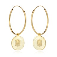 AEGINA ANCIENT COIN HOOP EARRINGS