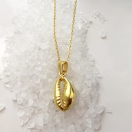 GOLD VERMEIL COWRIE SHELL NECKLACE