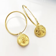 EPHESUS ANCIENT COIN HOOP EARRINGS