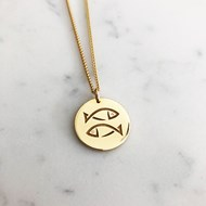 9ct GOLD ZODIAC SIGN PENDANT