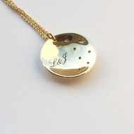 CONCAVE PERSONALISED GALAXY PENDANT