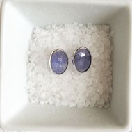 TANZANITE OVAL STUD EARRINGS