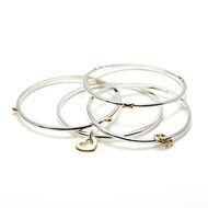 SET OF 9CT GOLD & SILVER BANGLES
