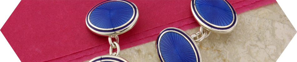 Cufflinks in silver and beautiful enamel by Argent of London - Cufflinks